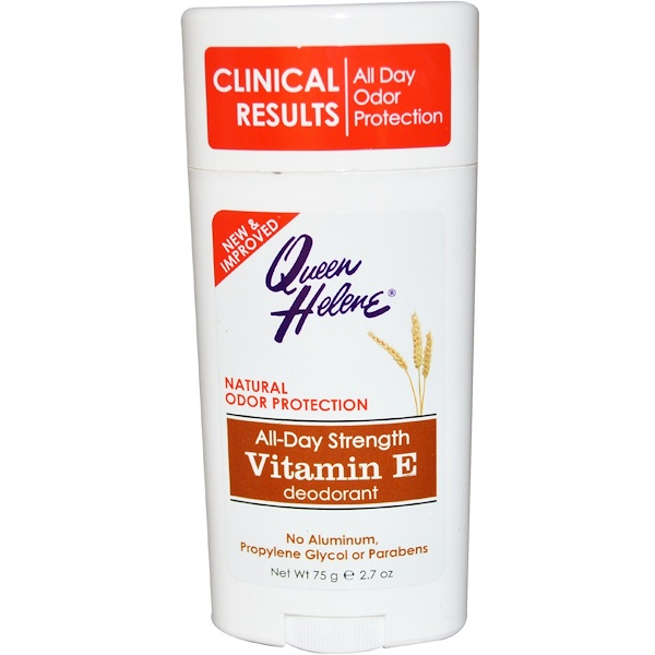 Queen Helene, All-Day Strength Deodoran, Vitamin E, 2.7 oz (75 g)