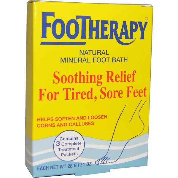 Queen Helene, FooTherapy, Natural Mineral Foot Bath, 3 Packets, 1 oz (28 g) Each