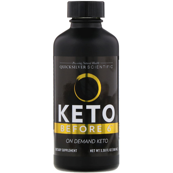 Quicksilver Scientific, Keto Before 6, 3.38 fl oz (100 ml) (Discontinued Item)