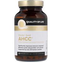 Kinoko Gold AHCC, поддержка иммунитета, 500мг, 60растительных капсул - фото