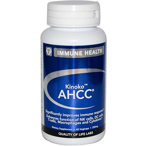 Quality of Life Labs, Kinoko AHCC, Immune Health, 250 mg, 60 Veggie Caps (Discontinued Item)