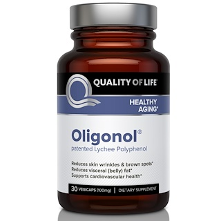 Quality of Life Labs, Oligonol, 100 mg, 30 Veggie Caps