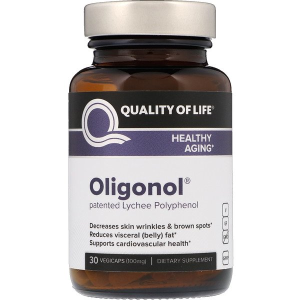 Quality of Life Labs, Oligonol, 100 mg, 30 VegiCaps