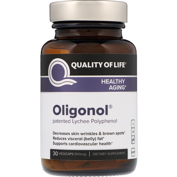 Quality of Life Labs, Oligonol, 100 mg, 30 Cápsulas Vegetales