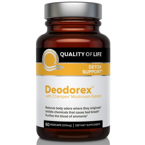 Quality of Life Labs, Deodorex, With Champex Mushroom Extract, 200 mg, 60 Veggie Caps