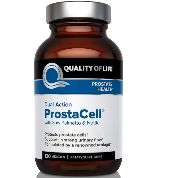 Quality of Life Labs, Dual-Action ProstaCell with Saw Palmetto & Nettle, 120 Veggie Caps (Discontinued Item)