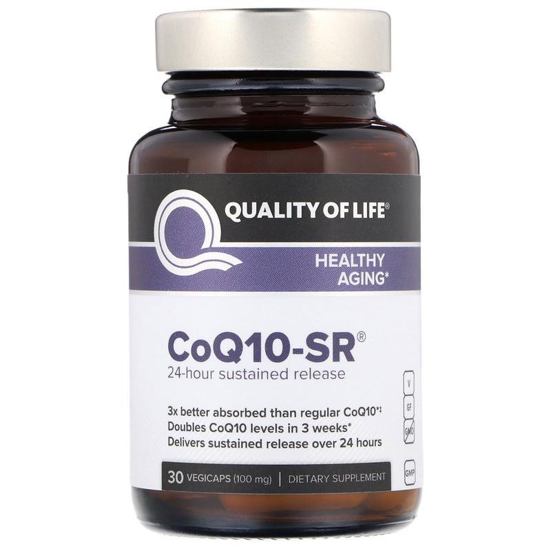 Quality of Life Labs, CoQ10-SR, 100 mg, 30 Vegicaps