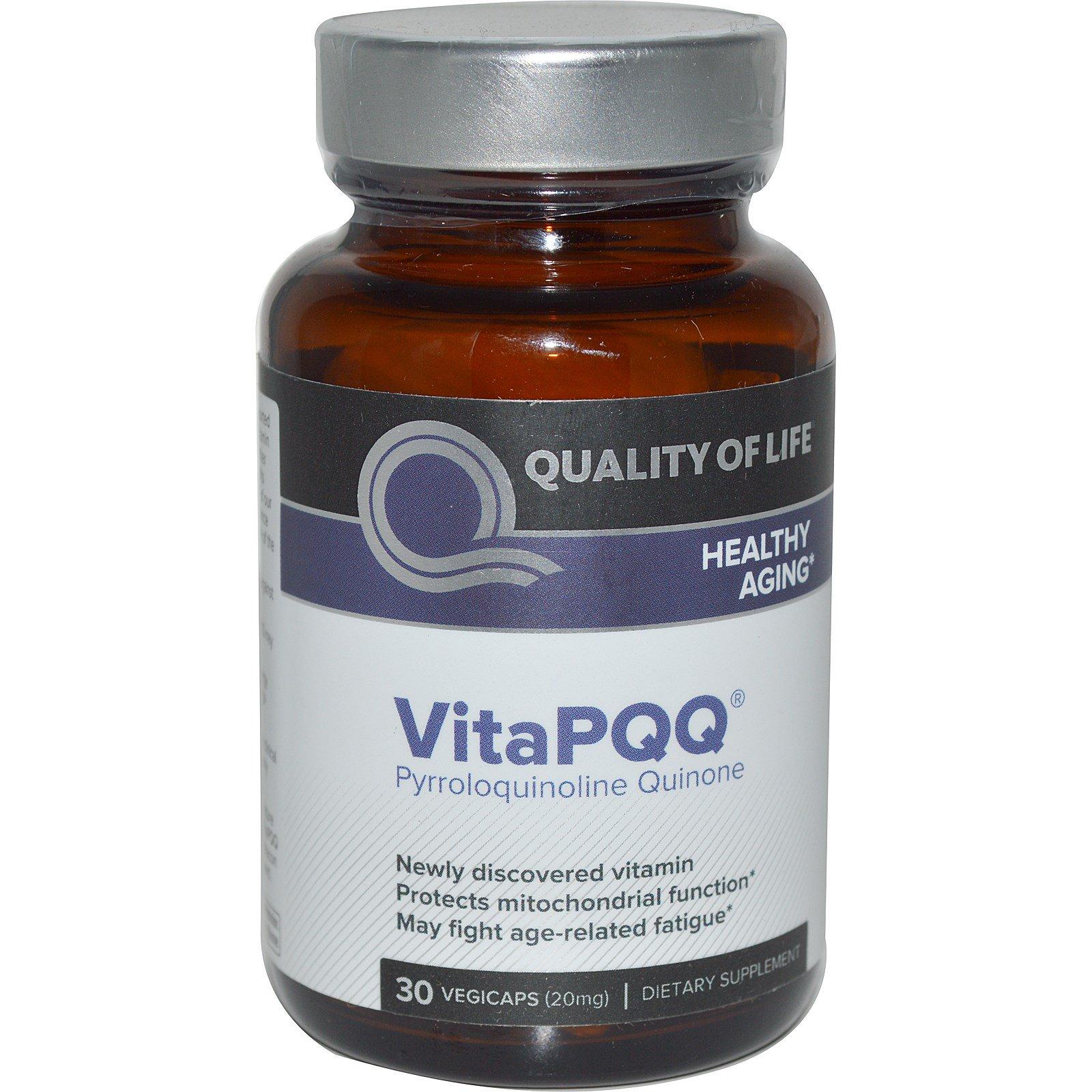 Quality of Life Labs, VitaPQQ, здоровое старение, 30 растительных капсул