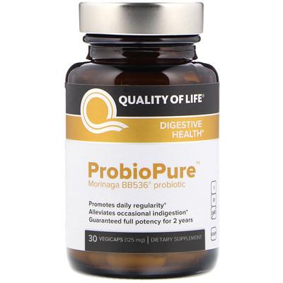 Quality of Life Labs ProbioPure, пробиотки 30 овощных капсул