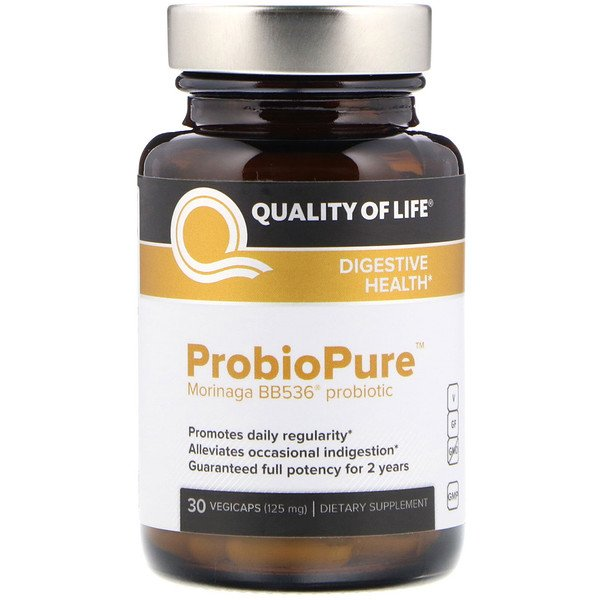Quality of Life Labs, ProbioPure، 125 ملغ، 30 كبسولة خضروات