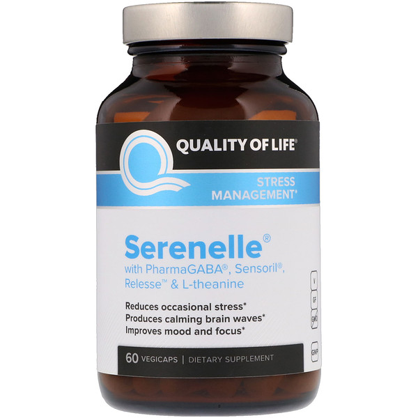 Quality of Life Labs, Serenelle, Stress Management, 60 VegiCaps