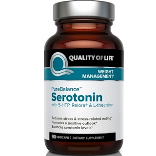 Quality of Life Labs, Pure Balance, Serotonin, 90 Veggie Caps