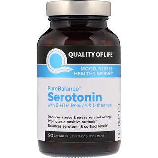 Quality of Life Labs, Puro Equilibrio, Serotonina, 90 Cápsulas Veganas