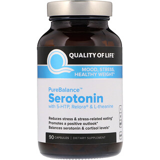 Quality of Life Labs, PureBalance, Serotonin, 90 Capsules