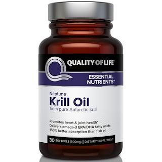 Quality of Life Labs, 南極磷蝦油膠囊,30粒