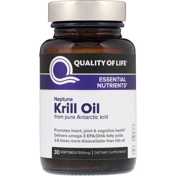 Neptune Krill Oil, Essential Nutrients, 500 mg, 30 Softgels