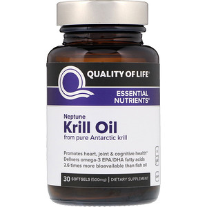 Куалити оф Лайф Лэбс, Neptune Krill Oil, Essential Nutrients, 500 mg, 30 Softgels отзывы покупателей