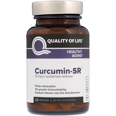 Quality of Life Labs Curcumin-SR, 30 растительных капсул