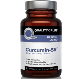 Quality of Life Labs, Curcumin-SR, Healthy Aging, 125 mg, 30 Veggie Caps