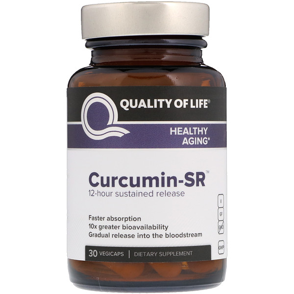 Quality of Life Labs, Curcumin-SR, 30 Vegicaps