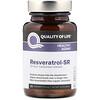 Quality of Life Labs, Resveratrol-SR, 150 mg, 30 Vegicaps