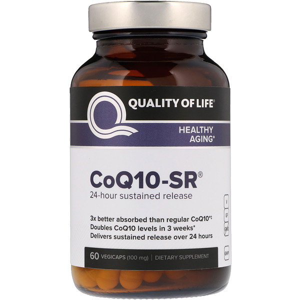 Quality of Life Labs, CoQ10-SR, 100 مج، 60 كبسولة نباتية