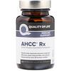 Quality of Life Labs, AHCC RX, 300mg, 소프트젤 60정