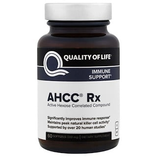 Quality of Life Labs, AHCC RX 300 مج، 60 كبسولة هلامية
