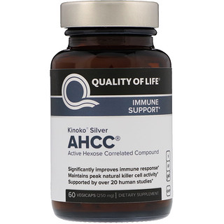 Quality of Life Labs, Kinoko Silver AHCC, 250 mg, 60 Vegicaps