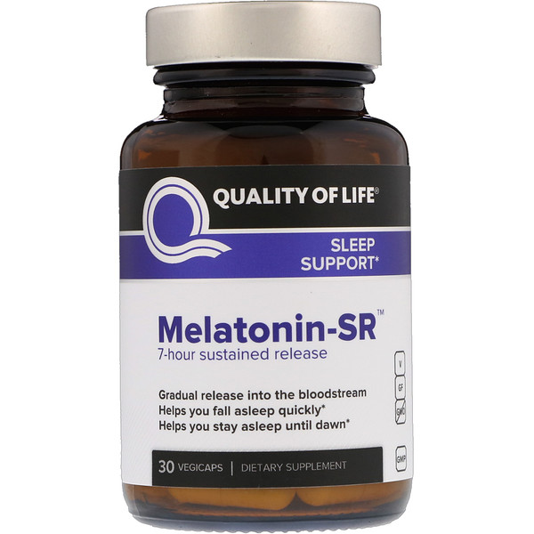 Quality of Life Labs, Melatonina-SR, 30 cápsulas vegetarianas