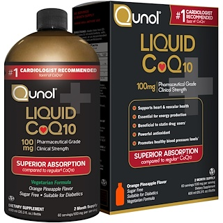 Qunol, Liquid CoQ10, Orange Pineapple Flavor, 100 mg, 20.3 fl oz (600 ml)