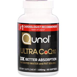 Qunol, Ultra CoQ10, 100 mg, 60 Softgels