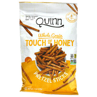 Quinn Popcorn, 椒鹽卷餅,全穀物,Touch of Honey,7 盎司(198 克)
