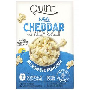 Квинн Попкорн, Microwave Popcorn, White Cheddar & Sea Salt, 2 Bags, 3.5 oz (100 g) Each отзывы