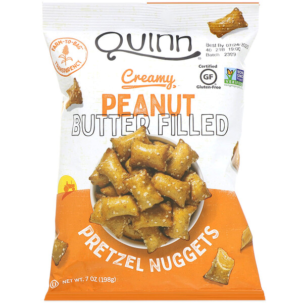 Pretzel Nuggets, Creamy Peanut Butter Filled,  7 oz (198 g)