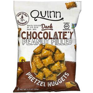 Квинн Попкорн, Pretzel Nuggets, Dark Chocolate'y Peanut Filled, 6.5 oz (184 g) отзывы покупателей