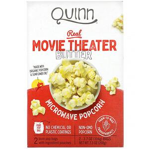 Квинн Попкорн, Microwave Popcorn, Real Movie Theater Butter, 2 Bags, 3.7 oz (104 g) Each отзывы