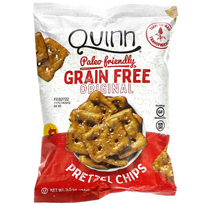 Quinn Popcorn, 椒鹽卷餅片,無谷物,5.5 盎司(156 克)'
