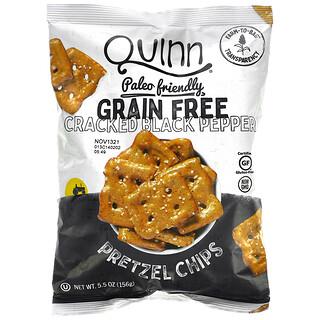 Quinn Popcorn, 椒鹽卷餅片,無穀物,黑胡椒碎,5.5 盎司(156 克)