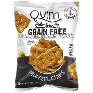 Quinn Popcorn, Pretzel Chips, Grain Free, Cracked Black Pepper, 5.5 oz (156 g)