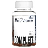 T-RQ, Adult Gummy, Multi-Vitamin, Complete, Strawberry Orange Cherry, 60 Gummies