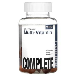 T-RQ, Adult Gummy, Multi-Vitamin, Complete, Strawberry Orange Cherry, 60 Gummies