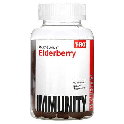 T-RQ Adult Gummy, Elderberry, Immunity, Raspberry, 60 Gummies