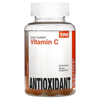 T-RQ, Adult Gummy, Vitamin C, Antioxidant, Orange, 60 Gummies