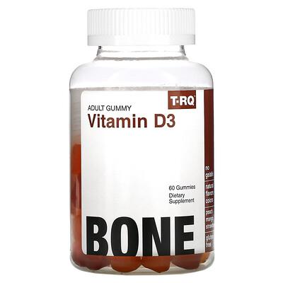 T-RQ Adult Gummy, Vitamin D3, Bone, Peach, Mango, Strawberry , 60 Gummies