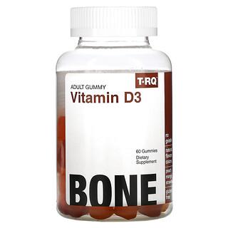 T-RQ, Adult Gummy, Vitamin D3, Bone, Peach, Mango, Strawberry,  60 Gummies