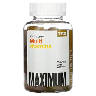 T-RQ жевательные мультивитамины для взрослых, со вкусом вишни, лимона и апельсина, 60жевательных таблеток