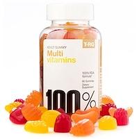 Мульти витамины, взрослых Gummy, Cherry Лимон Апельсин, 60 Gummies - фото