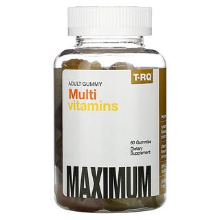T-RQ, Gomitas para adultos, Multivitaminas, Cereza, Limón, Naranja, 60gomitas