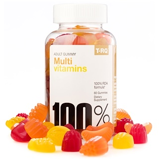 T.RQ, Multi vitamines, gommes pour adultes, cerise citron orange, 60 gommes